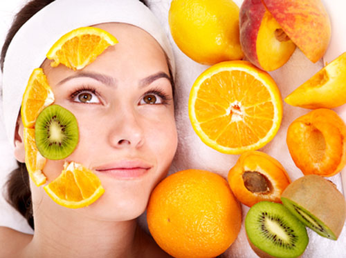 Glowing skin With Fruits
