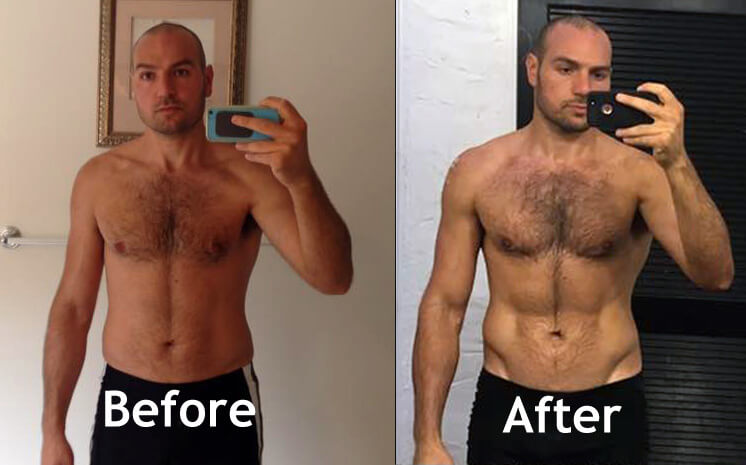keto before and after men
