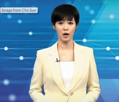 Now the robot news anchor will read the news on TV